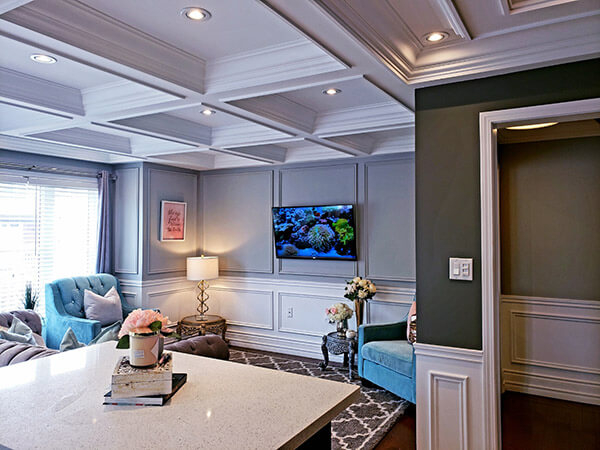 Waffle Ceiling Vs Coffered Ceiling Dream Trim Moulding